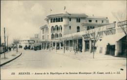 MAROC  MEKNES / Avenue De La République Et Les Services Municipaux / - Meknès