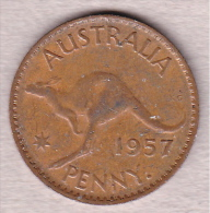 Australien One Penny 1957 - Vordezimale Münzen (1910-1965)