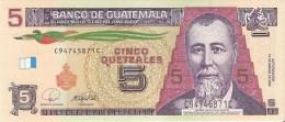 BILLETE DE GUATEMALA DE 5 QUETZALES DEL 12 DE MARZO 2008  (BANKNOTE) SIN CIRCULAR-UNCIRCULATED - Guatemala
