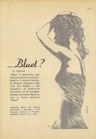 # BLUET DEODORANTE MANETTI & ROBERT´S 1950s Advert Pubblicità Publicitè Reklame Deodorant Desodorante Beautè - Non Classificati