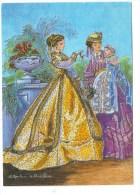 Geneviève RONDEAU De Chastellier.   Costumes Anciens   1866.  (Mère Et Bébé) - Illustrateurs & Photographes