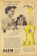 # GLEM TESTANERA SCHWARZKOPF EGG SHAMPOO, ITALY 1950s Advert Pubblicità Publicitè Reklame Hair Cheveux Haar Beautè Oeuf - Non Classificati
