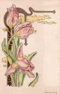 Belle Cpa Illustree  .style Art Deco...belle Illustration Fleurie - Autres Illustrateurs