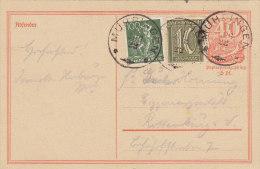 INFLA Ganzsache P 141 I Postreiter Mit ZFr. DR 159 A, 167 MiF, Mit Stempel: Mühringen 11.AUG 1922 - Infla