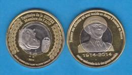 GUINEA  1 FRANCO 2.014 2014 Bimetálica  SC/UNCirculated    VERY VERY RARE!!!!  T-DL-10.781 - Guinea