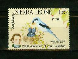 Sierra Leone 1985,1V,birds,pajaros,oiseaux,vogels,vögel,MNH/Postfris,E4068es - Birds