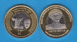 CONGO FRANCÉS  1 FRANCO 2.014 2014 Bimetálica  SC/UNCirculated    VERY VERY RARE!!!!  T-DL-10.782 - Congo (Democratic Republic 1964-70)
