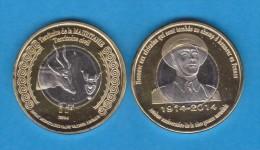 MAURITANIA  1 FRANCO 2.014 2014 Bimetálica  SC/UNCirculated    VERY VERY RARE!!!!  T-DL-10.785 - Mauritania