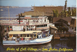 "CALIFORNIA- LOS ANGELES- SAN PEDRO:  POSTCARD PORTS OF CALL VILLAGE. EXCURSION AND SIGHTSEEING BOATS ""PRINCESS"". GECKO."