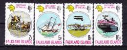 FALKLAND ISLANDS   1974, U P U  Centenary   Y&T #  225/8  ,  Cv  3.00 E  ,  **  M N H , V V F - Falkland