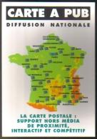 """Carte Postale édition """"Carte à Pub"""" - Diffusion Nationale (carte De France) - Publicité"""