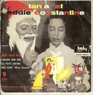 "45T. TANIA Et Eddie CONSTANTINE. Petit Papa Noël - Chanson Pour Noël - Les Petits Santons - Noël Blanc ""White Christmas"" - Christmas Carols"