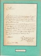 """(Louis XVI). CHAVANNES (M. De), Secretaire De Louis XVI. Lettre Autographe Signée """"de Chavanes, Secr. Du Roy"""", 6 Février - Autographes"""