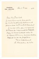 """(Roi Pierre I°). CHAMPETIER DE RIBES (A),  Homme Politique Français. Lettre Autographe Signée à """"Mon Cher Président"""", No - Autographs"""