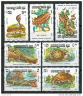 1983 Kampuchea Rettili Reptiles Set MNH**B281 - Kampuchea