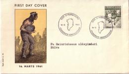 Enveloppe  1er  Jour  GROENLAND   Folklore  Danse   1961 - FDC