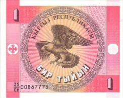 KIRGHIZISTAN     1 Tyiyn  Non Date (1993)   Pick 1   ***** BILLET  NEUF ***** - Kirghizistan