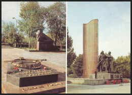 UKRAINE (USSR, 1989). KIROVOGRAD. MEMORIAL SOLDIERS CEMETERY. THE HEROES OF WWII MONUMENT - Monuments