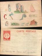 Carte Rébus Publicitaire - Les Tournées Ch Baret Sont épatantes (état) - Cartoline Con Meccanismi