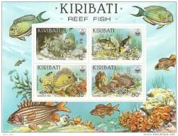 Kiribati 1985 Reef Fish Souvenir Sheet MNH - Fishes