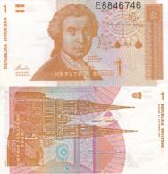 Banknote 1 Dinar Kroatien Hrvatska CROATIA 1991 Money Note Jedan Hrvatski HRD - Kroatien
