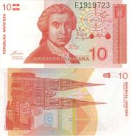 Banknote 10 Dinara Kroatien Hrvatska CROATIA Dinar Money Note Hrvatskih HRD Dese Money Geld Zehn - Kroatien