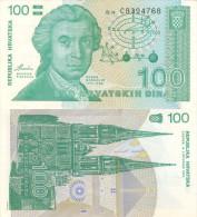 Banknote 100 Dinara Kroatien Hrvatska CROATIA Dinar Note Hrvatskih Sto Money HRD Money Geld Hundert - Croatia
