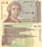 Banknote 25 Dinara Kroatien Hrvatska CROATIA Dinar Note Hrvatskih Dva Desetpet Geld Money Papiergeld - Kroatien