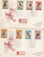 Hungary 1962 Birds Registered FDCs - FDC