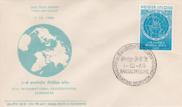 India 1968 International Geographical Congress FDC - FDC