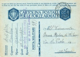1941 POSTA MILITARE 79 - 35 REGG. ARTIGLIERIA 8' BATTERIA - 1900-44 Vittorio Emanuele III