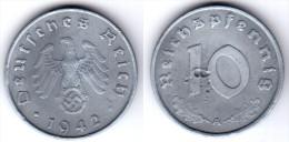 Original coin: 10 reichspfennig 1942 �A�. Germany (1089)