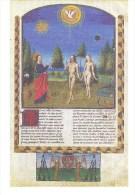 J. DE COURCY: Adam Et Eve Au Paradis [ Femme Nu Bible Enluminure ] AE048 - Non Classés