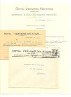 ROYAL VERVIERS NATATION - Ensival-Verviers - Lot De 3 Documents 1938 (rl) - 1900 – 1949
