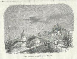 GRAVURE De 1868... Halo Solaire Observé à BOURDEAUX ( Drôme 26) - Stiche & Gravuren