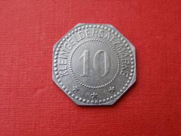 2 JETONS  DE NECESSITE VILLE DE WISSEMBOURG (alsace) 10 Et 50 - Notgeld