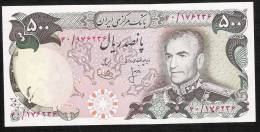 IRAN P104a 500 RIALS 1974 Sign. 9  UNC. RARELY SEEN ! - Iran