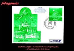 EUROPA. FRANCIA. ENTEROS POSTALES. MATASELLO ESPECIAL 1998. IMPRENTA DE SAN MIGUEL. TARJETA ENTERO POSTAL - Enteros Postales