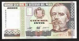 PEROU PERU  P145  100.000  INTIS   1989  SERIE A        UNC. - Pérou