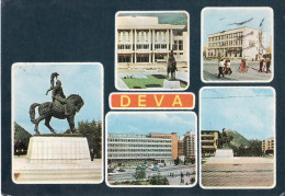 Deva Multi View Postcard, Decebal Statue 32 - Roemenië