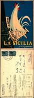 219) Cartolina Con Pubblicità La Sicilia-viaggiata 1958 - Pubblicitari