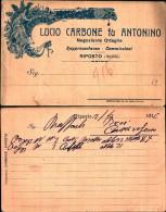 222) Cartolina Con Pubblicità Lucio Carbone Fu Antonino-riposto-nuova - 1900-44 Vittorio Emanuele III