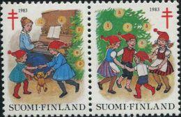 NE3582 Finland 1983 Christmas Dance Piano 2v MNH - Finnland