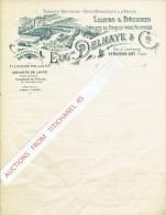 Lettre Vierge Illustrée VERVIERS - EUGENE DELHAYE & Cie - Fabrique De Flocons De Laine -Déchets De Cotons Pour Filatures - Sin Clasificación