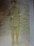 Militaria Photo De Soldats Avec Brassard Blanc Sans Insigne à Identifier 14 18 - Dokumente
