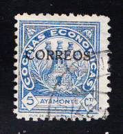 AYAMONTE.COCINAS ECONOMICAS.SOBRECARGADO CORREOS USADO   SES 708 - Emissions Nationalistes