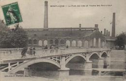 03 MONTLUCON Le Pont Des Isles Et L'Usine Des Fers Creux - Montlucon