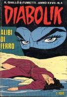 DIABOLIK N°4 ALIBI DI FERRO - Diabolik