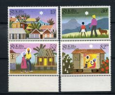 St  KITTS :  Y&T N°  550/53 ,  TIMBRES  NEUFS/MNH  SANS  TRACE  DE  CHARNIERE , A  VOIR . - St.Kitts And Nevis ( 1983-...)
