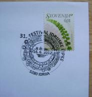 2012 SLOVENIA CANCELLATION ON COVER 31. IDRIJA LACES FESTIVAL LACE - Textile